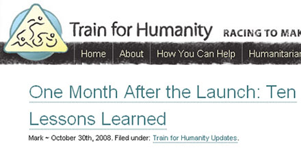 Mark Hayward and Train for Humanity